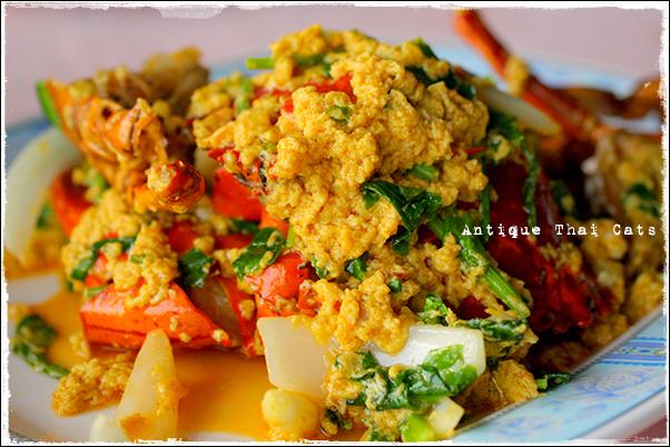 パタヤ Pattaya พัทยา タイ料理 Thaifood อาหารไทย プーパッポンカレー 蟹のカレー粉炒め ปูผัดผงกะหรี่