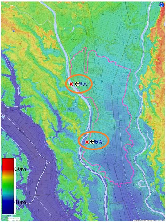 鬼怒川の氾濫