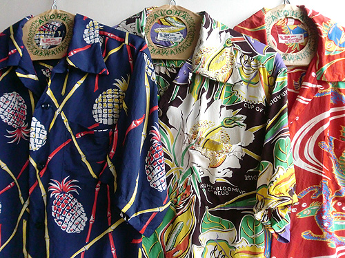 pop art aloha shirts