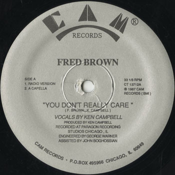 DG_FRED BROWN_YOU DONT REALLY CARE_201507