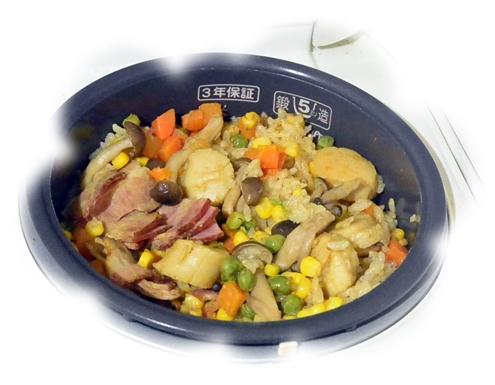 ホタテ炊き込みご飯2-2