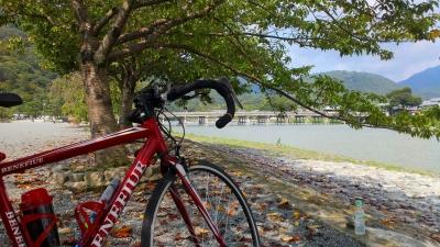 桂川を上って嵐山渡月橋