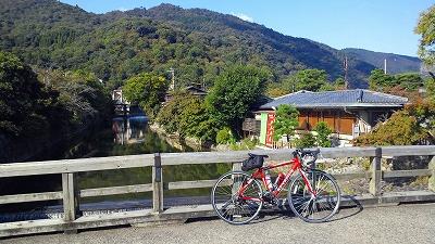 嵐山10月12日紅葉はまだですね
