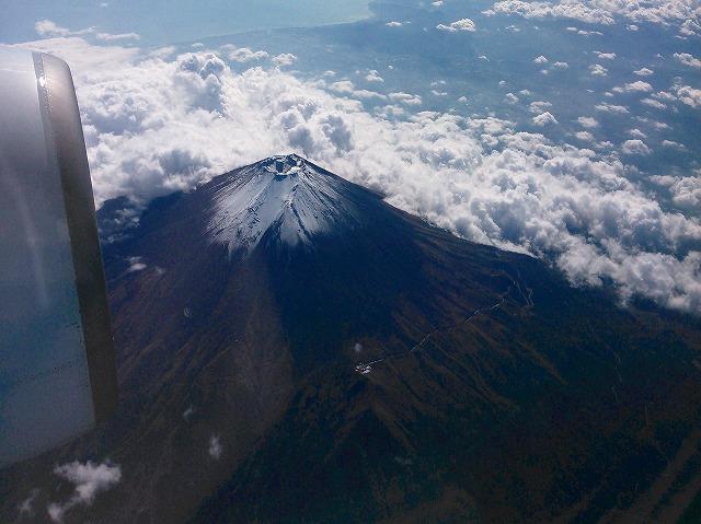 綺麗に富士山が