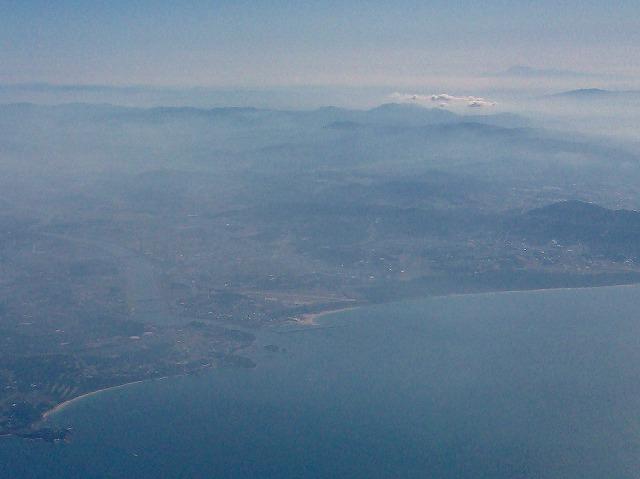 福岡空港の滑走路を視認