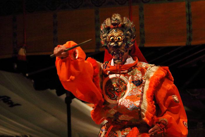 氷室神社 夕座の舞楽4