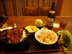 Oroshi Soba Buchweizennudeln aus Fukui, und Sosukatsudon (Kottelett mit Tunke auf dem Reis)