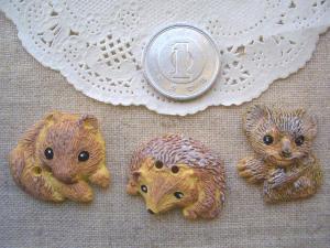 プラスチック:リス、ハリネズミ、コアラ