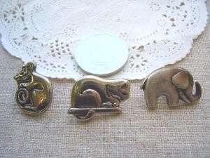メタル ネズミ、ネコ、ゾウ