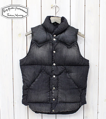 Rocky Mountain Featherbed Denim Down Vest