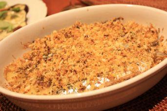 イワシとポテトのカレーマスタードパン粉焼き