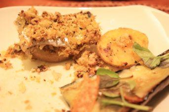 イワシとポテトのカレーマスタードパン粉焼きアップ2