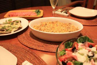 イワシとポテトのカレーマスタードパン粉焼き献立