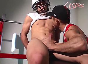 ゲイ動画:顔も体も声もイイパーフェクト可愛い体育会 !!