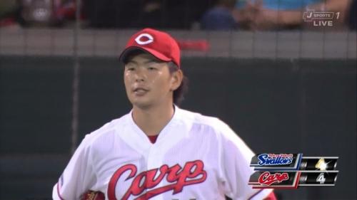 【カープ】野間の悪送球でCS遠ざかって松山のホームランで望み残して