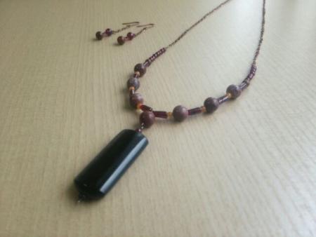 ブラックオブシディアンのネックレス2