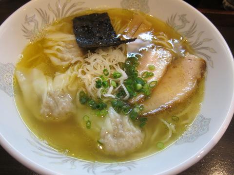 かつみ(肉ワンタン麺・白)