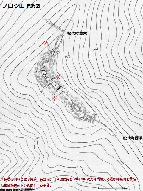 ノロシ山見取図①