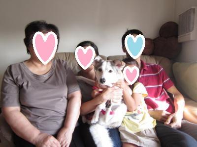 ルル家族写真