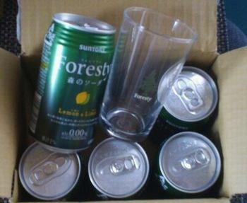 フォレスティ森のソーダ5缶&グラス