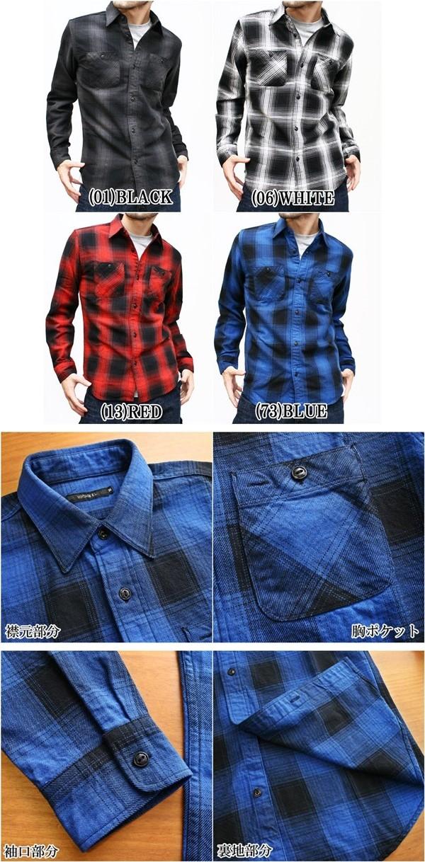 2015-10-11 チックシャツ ヴィンテージイーエル 0014-vert オンブレーチェック