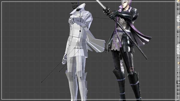 sims3 戦国BASARA 石田三成 衣装 ボディメッシュ