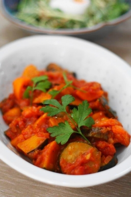 ピリ辛トマトソース煮のラタトゥイユ