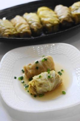 味噌と白だしの和風ロールキャベツ2