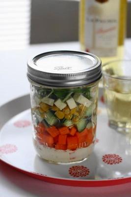 チーズとダイスカット野菜のジャーサラダ2