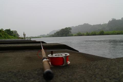 雨のキャス練場