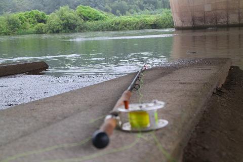 スペイロッドと橋の欄干