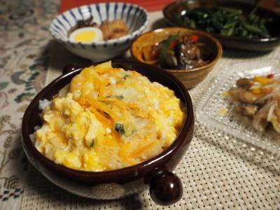 かき揚げ卵とじ丼