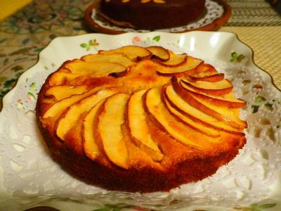 リンゴのキャラメルタルト