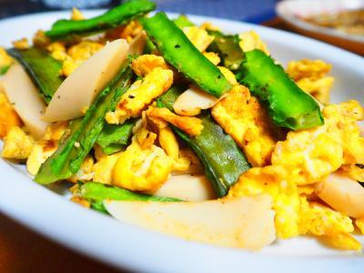 四角豆と卵の炒め物