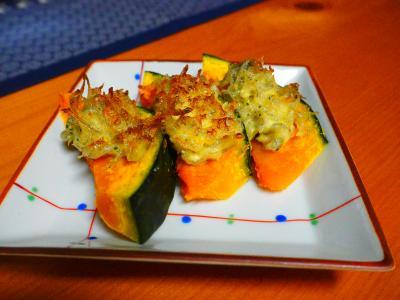 雑魚マヨ焼きかぼちゃの