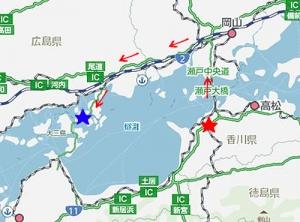生口島への地図