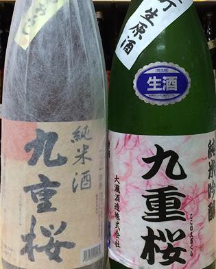 九重桜純米ひやおろし&熟成古酒