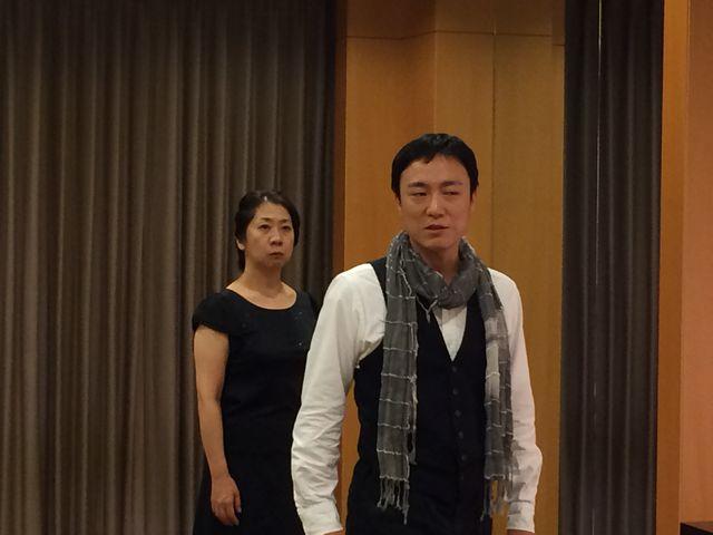 咲良舎下北沢本多劇場グループ「小劇場B1」公演「偽りの打ち明け話」稽古風景