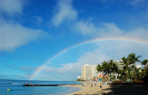 slide-ハワイ-ビーチ