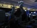 巨大ジオラマ ゾアムルチの尾を引くウルトラマンタロウ
