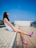 中国美少女 濡れシャツ透け乳首画像 2