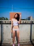 中国美少女 濡れシャツ透け乳首画像 8