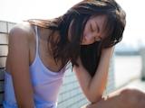 中国美少女 濡れシャツ透け乳首画像 12
