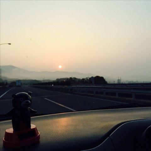 出発 車中  @鍋ヶ滝