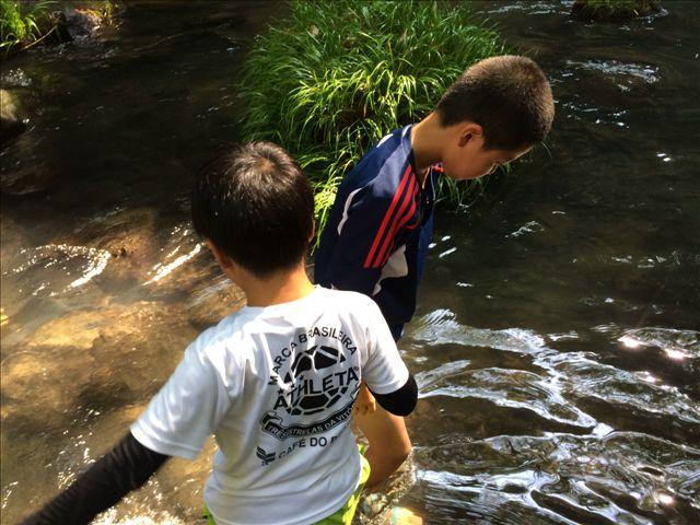 水遊び @鍋が滝