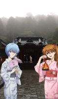 箱根神社 レイとアスカ