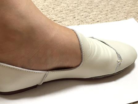 革も薄く、それでいて高さもないのでスッキリ履けます!