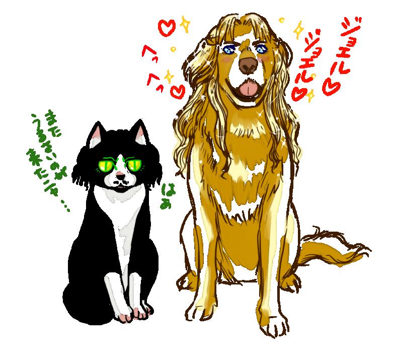 猫ジョエル&犬アダム