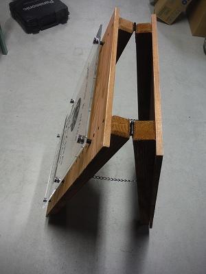 木製看板上部