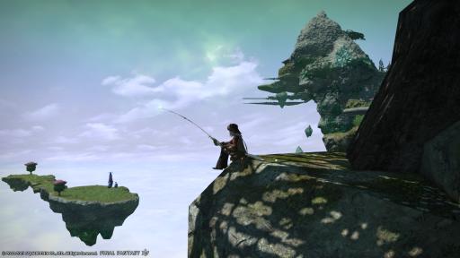 新生14 597日目 景色のいいところで釣りをしながらこんばんにゃ~